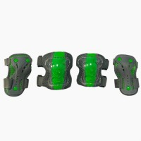 Набор защиты Tech Team Safety line 300, цвет серо-зеленый (размеры S, M, L)