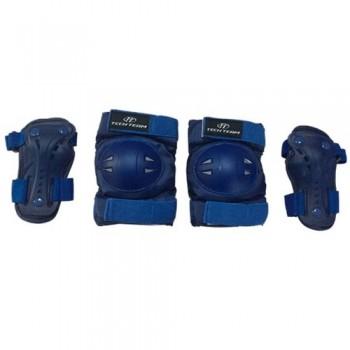 Набор защиты Tech Team Safety line 500, цвет синий (размеры S, M)